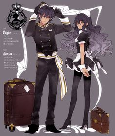 anime dark hair dark skin   crown curly_hair dark_skin gloves hat head_tilt high_heels long_hair ...