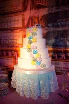 Custom Hat Box Cake Stand - wedding cake