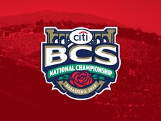 One more from the archives. This concept was submitted a few years ago for the 2010 BCS Championship in Pasadena but not used. Thought this was better than what they ended up going with. Meh, what ...