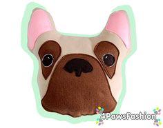 Bono the French Bulldog Pillow. Frenchie Plush by 4PawsFashion