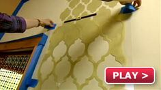 """Cutting Edge Stencils"" video how-to stencil your wall and link to purchase the wall stencils. Love it!"