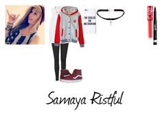 """Samaya Ristful"" by hood96-exe ❤ liked on Polyvore featuring Topshop, Miu Miu, Vans, Rimmel, Missguided, Lime Crime and Yves Saint Laurent"