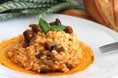 RISOTTO AL PIMENTÓN AHUMADO DULCE CON SETAS ~ The Spanish Food
