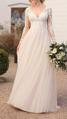 A Line Wedding Dress With Sleeves, Plus Size Wedding Gowns, Modest Wedding Dresses, Cheap Wedding Dress, Bridal Dresses, Gown Wedding, Wedding Cakes, Wedding Rings, Sleeve Wedding Dresses
