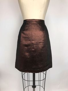 Anthropologie LEIFSDOTTIR WOMEN'S SKIRT METALLIC BRONZE GOLDEN SHIMMER Sz 2 #Leifsdottir #FullSkirt