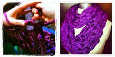 The Zesty Digest: Pinterest Craft: Chunky Infinity Scarf