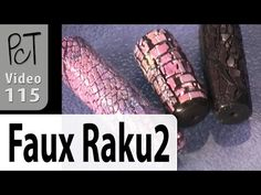 Faux Raku Deep Crackle Part 2 Polymer Clay Tutorial (Intro Vol-014-3) - YouTube