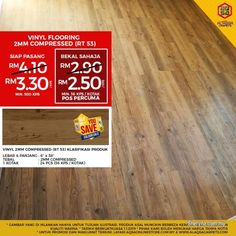 Other for sale, RM3 in Klang, Selangor, Malaysia. Wood Vinyl is 1 of the Best Flooring which spreads its beauty in every home!    Wood Vinyl Flooring