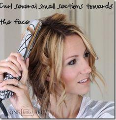loose and fun curls for short hair - tutorial DIY
