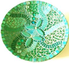 Mosaic Starter Dish with wheeled cutter: Teal**