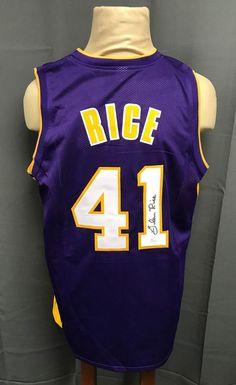 Glen Rice  41 Signed Los Angeles Lakers Jersey AUTO Sz XL JSA COA  Autographed 5bd0a2405