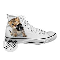 Kitten Eating CD 5 seconds of summer 5SOS White shoes New Hot Shoes
