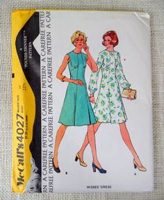 Vintage McCall's 4027 sewing pattern by momandpopcultureshop