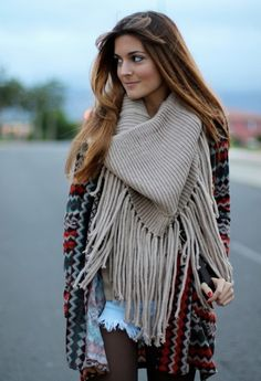 scarf. Fall autumn women fashion outfit clothing style apparel @roressclothes closet ideas