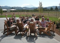 Cheers! | Mt. Hood Winery | Hood River, OR | Photo by Jeff Fisher