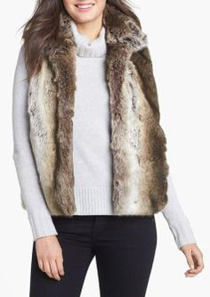 Gorgeous Holiday Look - Faux Fur Vest @Nordstrom