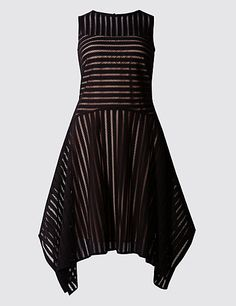 Striped Lace Fit & Flare Dress | M&S