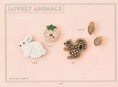 Perlen Stickerei Brosche Muster Japanisches von JapanLovelyCrafts