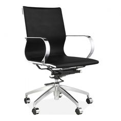 Office Chairs | Modern Executive Office Chairs | Cult UK Contemporary Office Chairs, Modern Chairs, Black Faux Leather, Pu Leather, Industrial Home Offices, Comfortable Office Chair, Adirondack Chairs For Sale, Executive Office Chairs, Mid Century Design