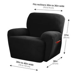 Shop Maytex Stretch Pixel 4 Piece Recliner Furniture Slipcover - On Sale - Overstock - 6226353 Armchair Slipcover, Furniture Slipcovers, Slipcovers For Chairs, Wing Chair, Home Decor Shops, Stretchy Material, Textures Patterns, Living Spaces, Cushions