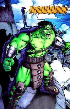 Hulk (Dr. Bruce Banner) (Green Scar persona)   art by Javier Saltares