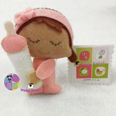 #felt #baby #gift #cute #royayenamadi #گل #نمدی #زیبا