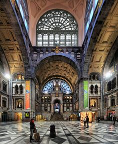 Antwerp railway station, Belgium