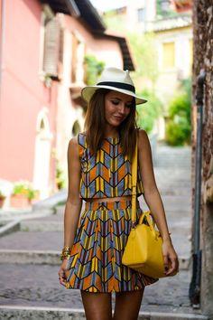 top + skirt: Fashion Pills  sandals: Pull & Bear  bag: Givenchy Antínona Mini hat: bought in Brazil watch: Sheen de Casio necklaces: Dime que me quieres bracelets: Minusey + Tommy Hilfiger