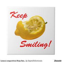 Lemon composition Keep Smiling! Tile