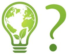 green earth-lightbulb with question mark