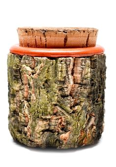Leif was our inspiration site and I was inspired by the Terracotta & Bark Jar pictured below. When I saw the bark and mossy green it made.