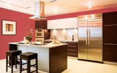 30 Inspiring Paint Colors for Your Kitchen: Kitchen Paint Colors: Ultra Modern Bold Kitchen