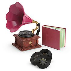 Rebeccas Phonograph Set - For period BJD's or an antique piece in BJD decor, $44