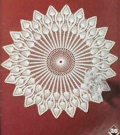 Crochet: Crochet napkin   graph following -m-