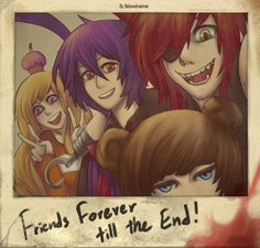 This is a picture that attached to Bonnie's guitar. I want to have some little meaning behind it. PS. This has nothing to do with the main FNAF story. Just a fanfic idea I had in mine. Art an...