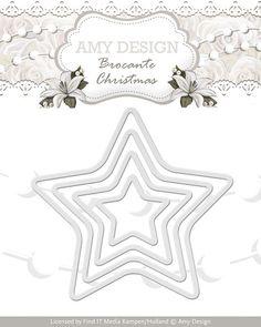 Die - Amy Design - Brocante Christmas - Mini Star Frames  ADD10033