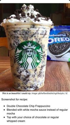 How to Make Your Favorite Starbucks Drink at Home Oreo Fra.How to Make Your Favorite Starbucks Drink at Home Oreo FrappuccinoHow to Make Your Fave Starbucks Drink at Home - Starbucks H. Starbucks Hacks, Starbucks Frappuccino, Bebidas Do Starbucks, Secret Starbucks Recipes, Secret Starbucks Drinks, Starbucks Secret Menu Drinks, Oreo Starbucks Drink, Starbucks Smoothie, Starbucks Order