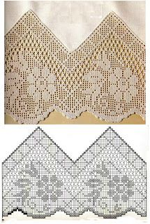 Szydełkomania: Bordiury ~ loads of free pattern charts for edges and borders (crochet)