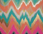 Custom ikat chevron 24x36 Painting by Jennifer Moreman. $750.00, via Etsy.