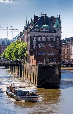 Wasserschloss at the Speicherstadt in Hamburg, Germany Cities In Germany, Visit Germany, Hamburg Germany, Germany Travel, Places Around The World, Travel Around The World, Around The Worlds, Great Places, Places To See