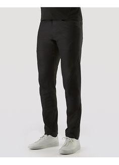 Anode Pant Men's Slim fitting, articulated pant in hybrid construction format. New for the season, it's made with water-repellent cotton/nylon, paired with a lightly insulated wool softshell with a knit cotton backer.