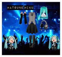 Hatsune Miku by creepypasta-supernatural77 on Polyvore featuring Noa Noa, Frye, Bigi, Coshome and Deborah Lippmann