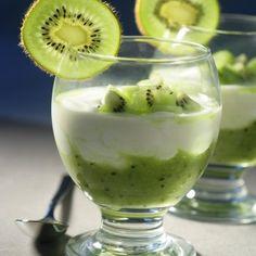 Panna cotta vanillée au kiwi