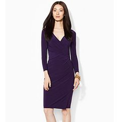 Lauren Ralph Lauren® Jersey Side-Draped Dress
