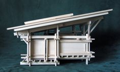 Architectural Model, Art, Sculpture: Cabin 1 by Konokopia on Etsy Curved Bed, Sliding Panels, Post And Beam, Landscape Architecture, Japanese Architecture, Architecture Student, Birmingham, Home And Garden, Sculpture