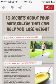 10 Secrets About Metabolism To Help You Lose Weight