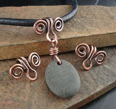 Solid Copper Bails, Handmade Bail, Made to Order, Copper Swirl Bail, For . - Handmade Solid Copper Bails for Necklace Pendants by kurtzysbeads - Copper Jewelry, Pendant Jewelry, Beaded Jewelry, Jewellery, Wire Pendant, Bijoux Fil Aluminium, Wire Necklace, Necklaces, Copper Necklace