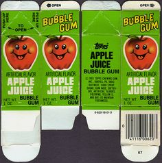 bubble juice gum - Does this bring back memories?  https://www.facebook.com/#!/DiMartinoChiropractic