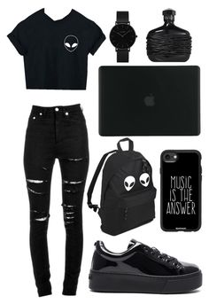 """""""Untitled #92"""" by posterchild on Polyvore featuring Yves Saint Laurent, WithChic, Kenzo, Casetify, Tucano, CLUSE and John Varvatos"""