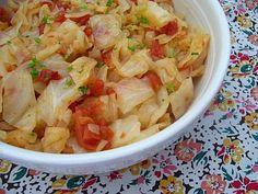 SCD Cabbage & Tomato Saute (*Use fresh tomatoes & substitute SCD stock/broth for bouillon...)